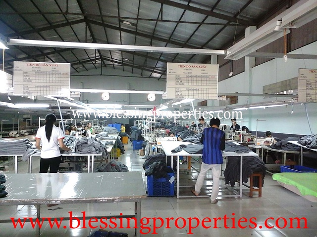 Running Garment Factory For Rent in Binh Duong Province