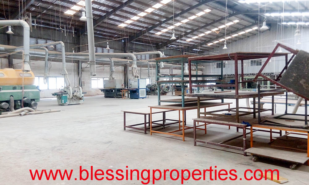Wooden Furniture Processing Factory For Sale inside industrial park.
